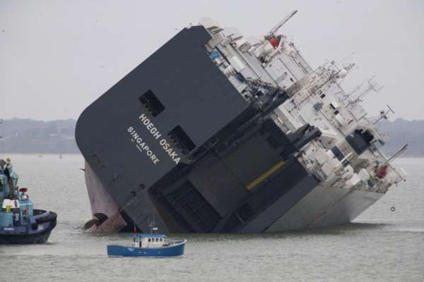 stranded cargo ship - 2