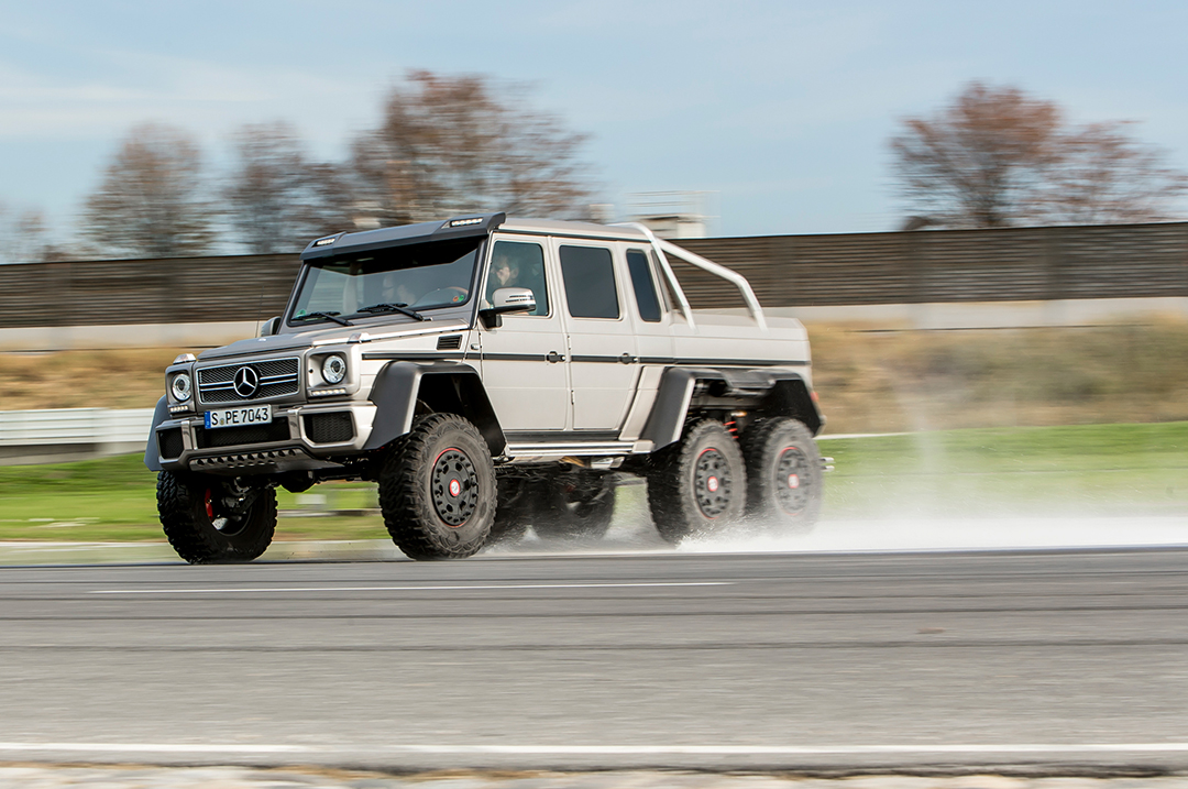 Mercedes benz 6x6 retires an ode to the legendary madness for 2014 mercedes benz g63 amg