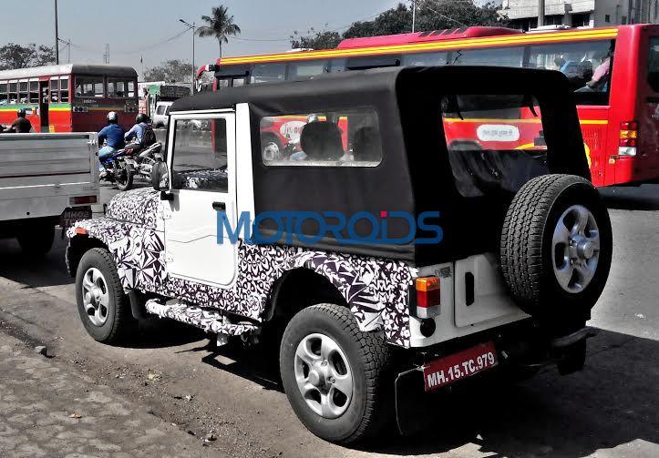 2015 Mahindra Thar spy image (1)