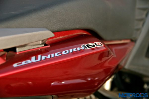 Honda CB Unicorn 160 Review - Static and Details - Rear Panel - 2