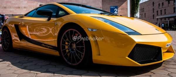 Lamborghini Gallrdo Superleggera (side) - Hyderabad International Auto Show 2015