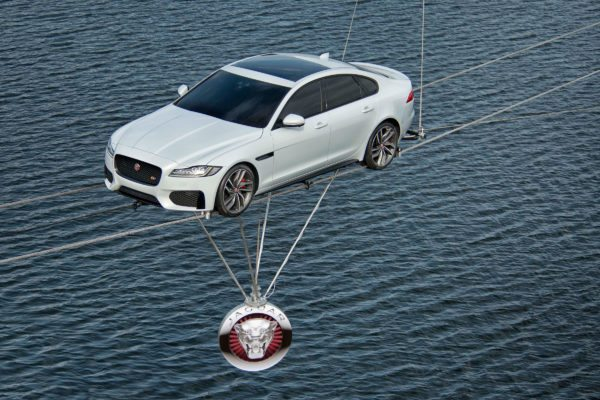 All-new Jaguar XF High-Wire Crossing (2)