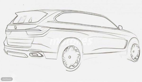 BMW X7 Sketch (2)