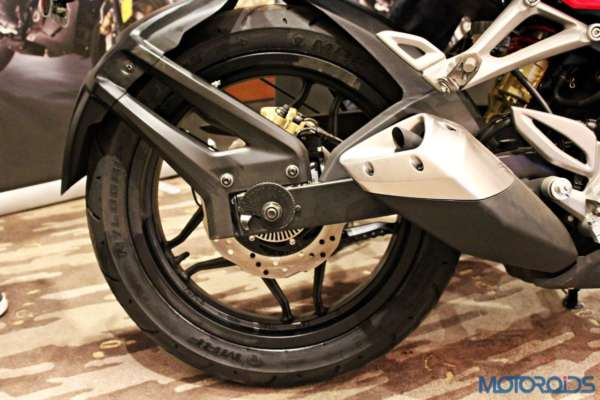 Bajaj Pulsar RS200 Launch - Exhaust and Rear Disc