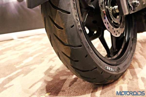 Bajaj Pulsar RS200 Launch - Rear Tyre