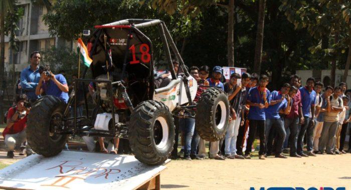 Team Red Shift of K. J. Somaiya College of Engineering Showcases Their ATV- Rauder