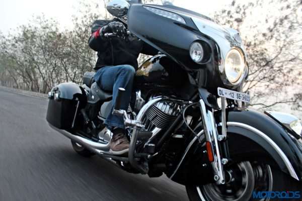 Indian Chieftain front three quarters action shots (2)