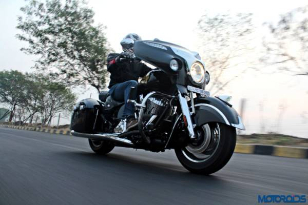 Indian Chieftain front three quarters action shots (7)
