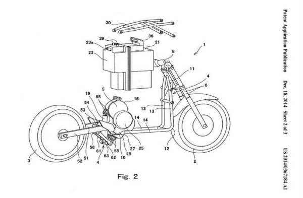 Kawasaki Ninja to go electric - Patent - 2