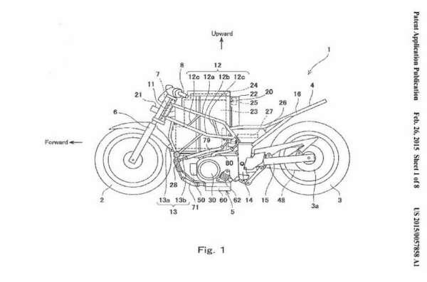 Kawasaki Ninja to go electric - Patent - 3