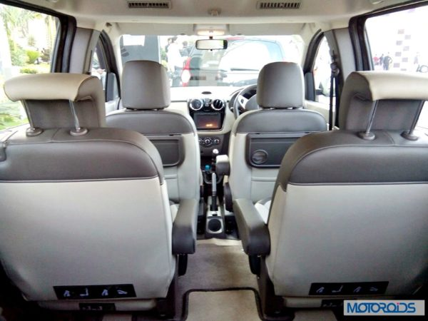 Renault Lodgy India captain's seats