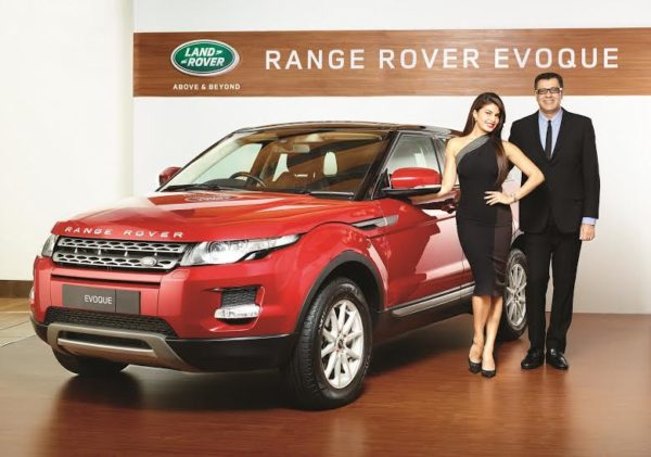 Rohit Suri, President, Jaguar Land Rover India & Jacqueline Fernandez launch the Evoque CKD