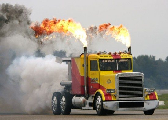 Shockwave jet-powered truck