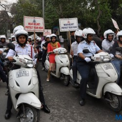 'Women Safety Rally' organised by Honda and Delhi Traffic Police on International Women's Day