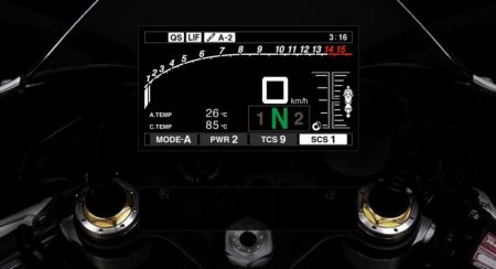 Yamaha let's you play with the 2015 R1's instrument cluster before you buy one