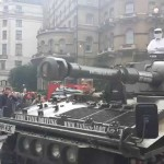 VIDEO: Bring Back Clarkson petition trundles into town with a tank!