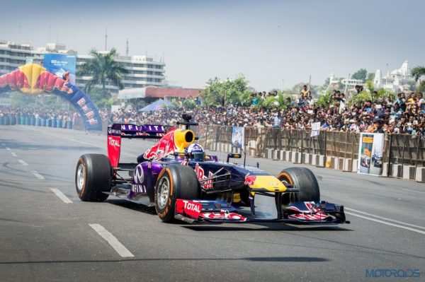 1. David Coulthard at Red Bull F1 Showrun Hyderabad