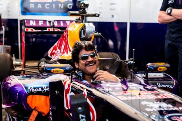 2. Nagarjuna behind the wheel at Red Bull F1 Showrun Hyderabad