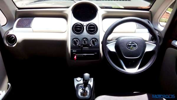 2015 Tata Nano GenX center console and dashboard(10)
