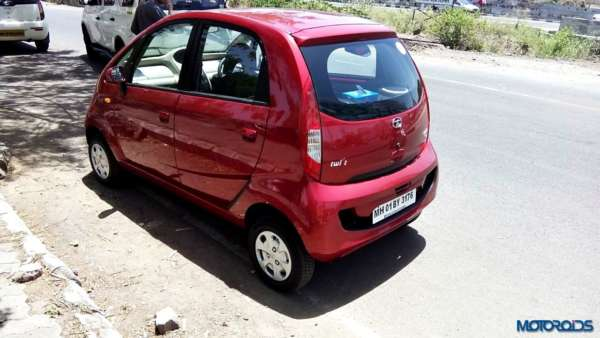 2015 Tata Nano GenX rear left three quarters (1)