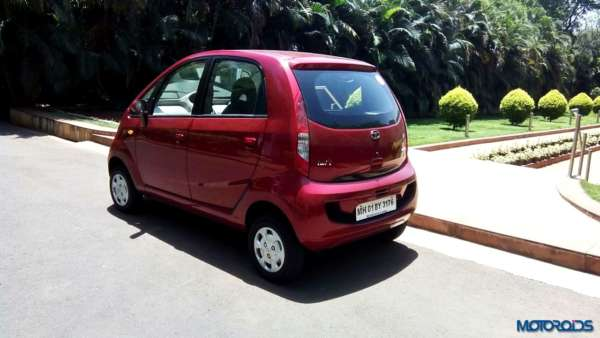 2015 Tata Nano GenX rear left three quarters(4)