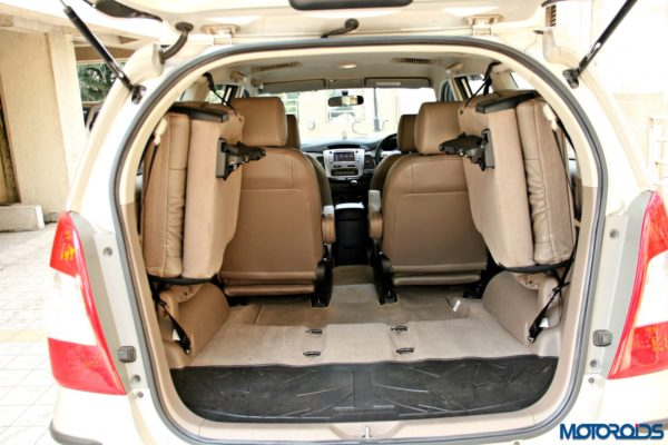 2015 toyota Innova boot space with last row up (74)