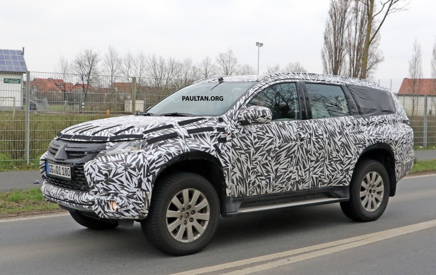 In camouflage : India bound 2016 Mitsubishi Pajero Sport spied for the first time | Motoroids