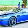 Aston Martin crashes in Delhi; hits tree to avoid running over stray dog
