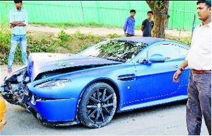 Aston Martin Crash Delhi