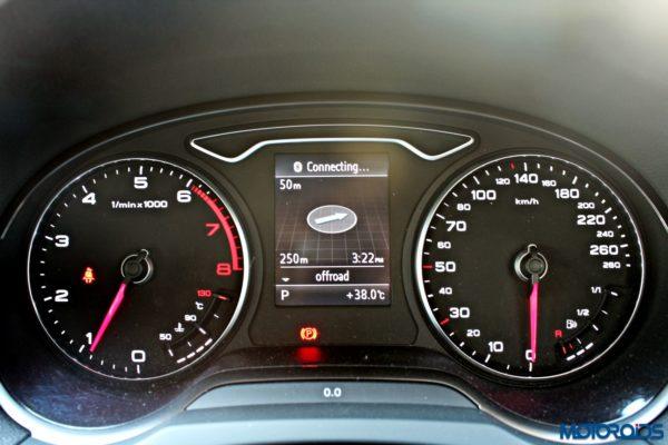 Audi A3 Cabriolet Instrument Console