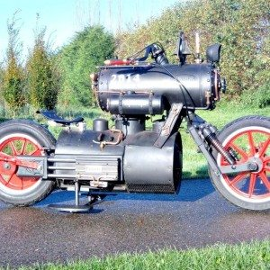 Black Pearl Steam Powered Motorcycle (1)