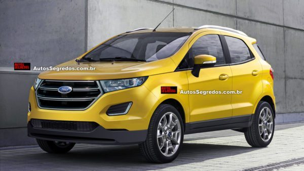 Ford Ecosport facelift render