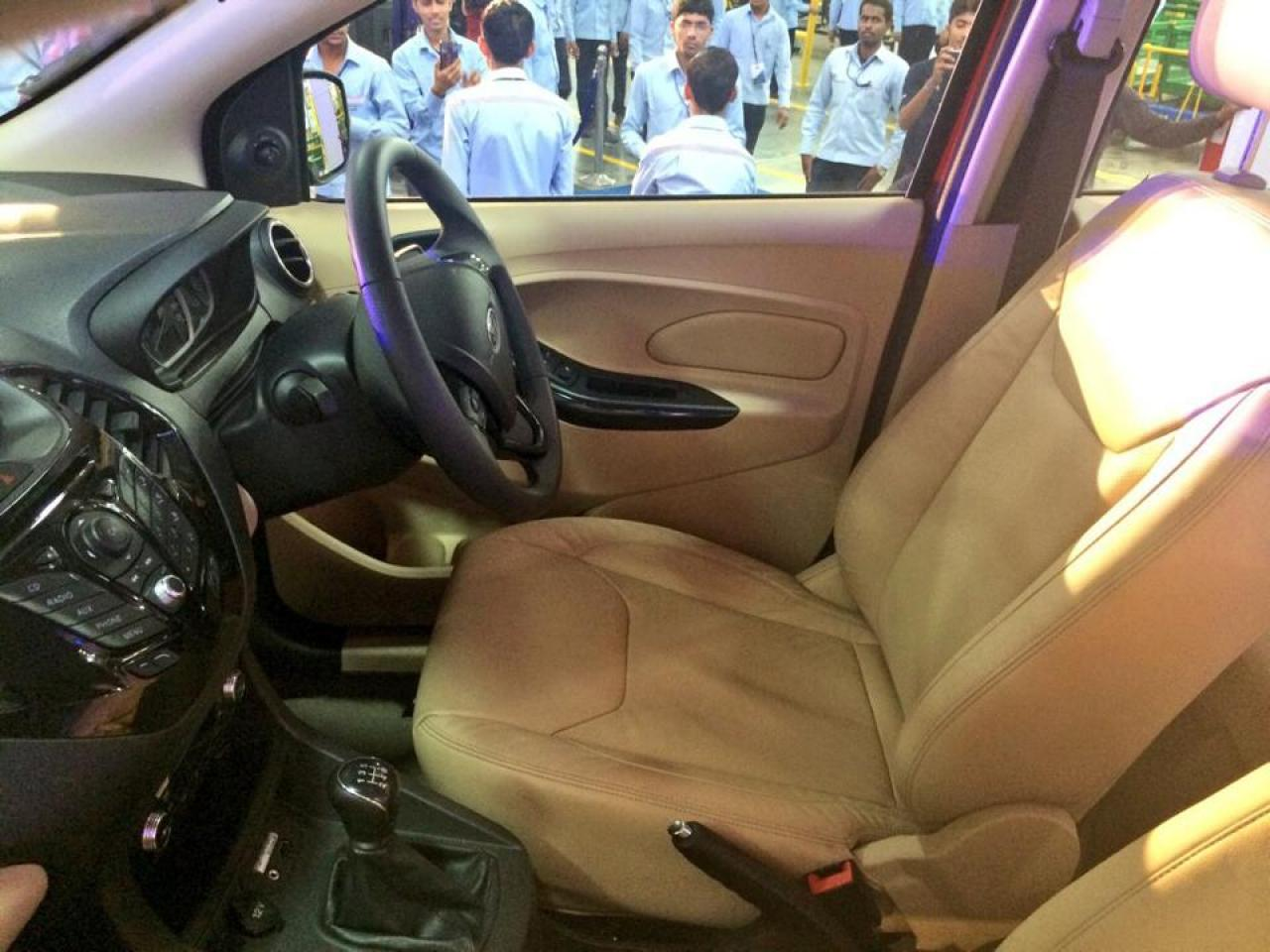 ford figo aspire interior spied reveals good space quality materials motoroids. Black Bedroom Furniture Sets. Home Design Ideas