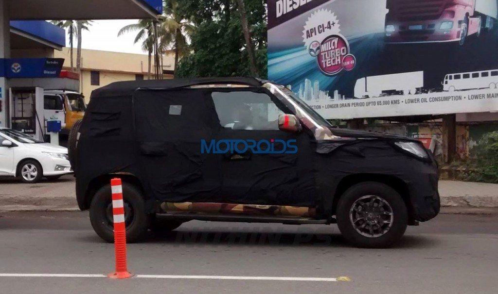 Mahindra Bolero U301 spy shot Kerela
