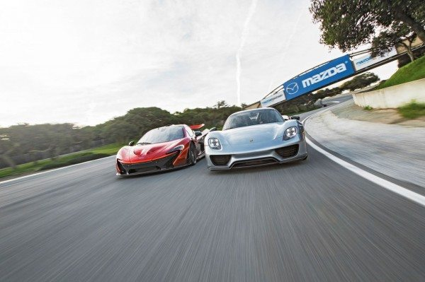 McLaren P1 finally goes head-to-head with the Porsche 918 Spyder on video, Ferrari is still MIA