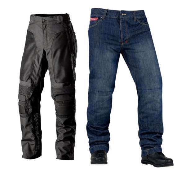 Motorcycle riding pants - Collage