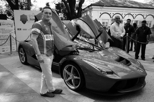 Parx Super Car Show -Gautam Singhania with the LaFerrari