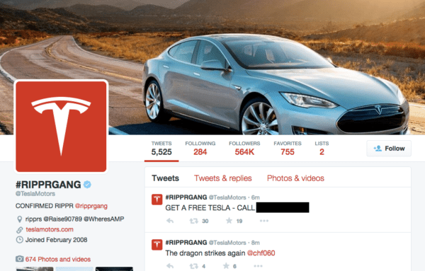 Tesla Twitter Hack