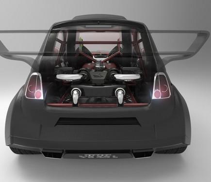 this fiat 550 italia prototipo uno is a ferrari v8 powered psychopath motoroids. Black Bedroom Furniture Sets. Home Design Ideas