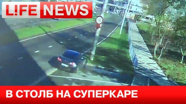 Russian GT-R crash