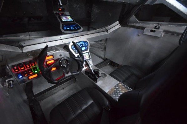 Cockpit of the 2015 Ripsaw EV-2