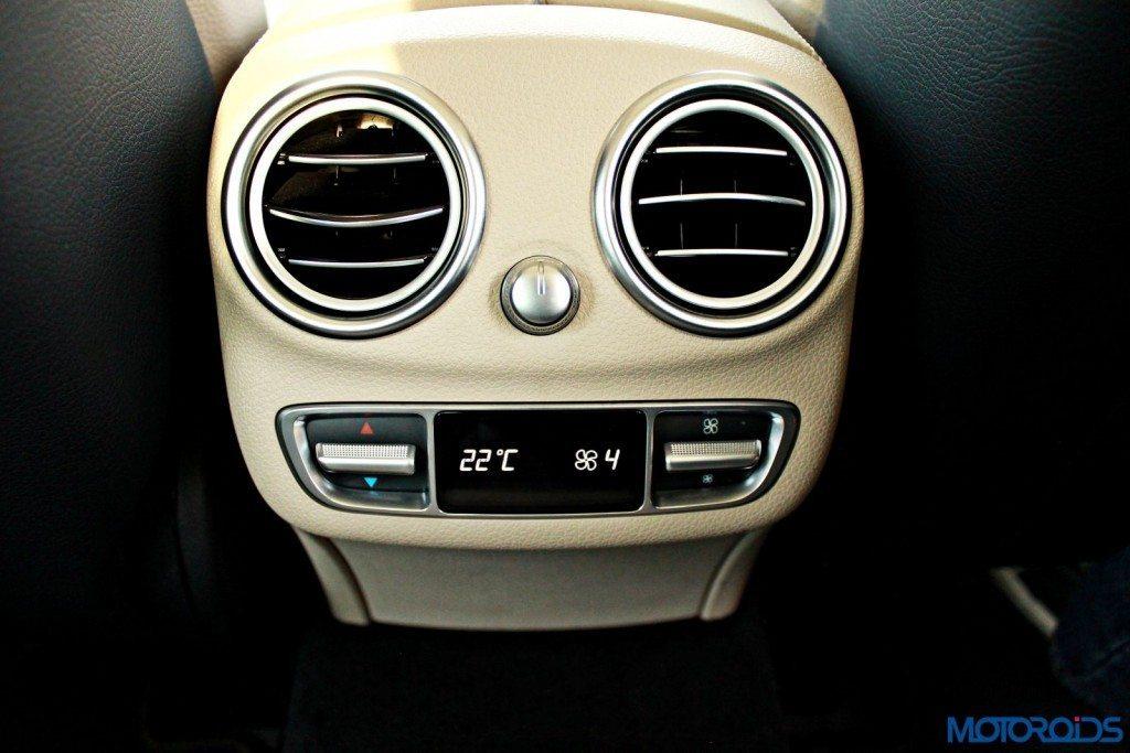 new C Class rear seat ac vents