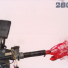 Watch a car seatbelt pretensioner do its safety magic at 28,000 frames per second