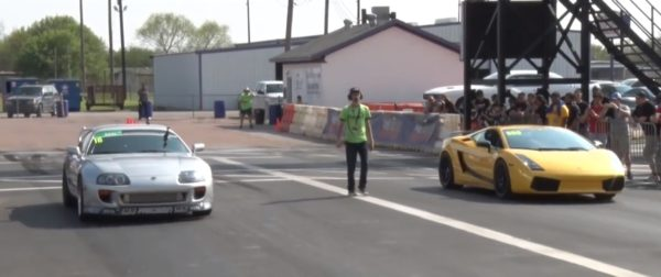 1400 hp Supra vs 1800 hp Gallardo