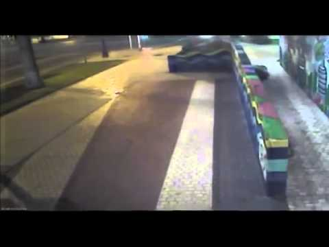 CCTV camera crash footage