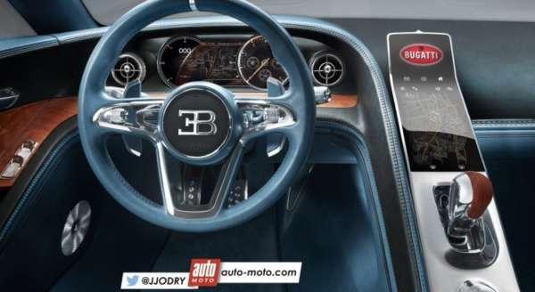 Bugatti Chiron interior rendered