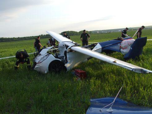 Aeromobil flying car crash