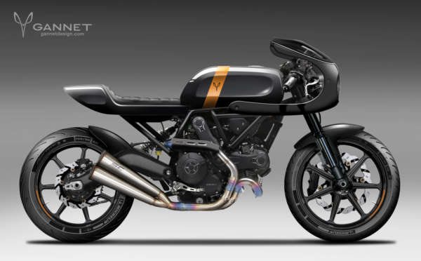 Custom Ducati Scrambler by Gannet Design (2)