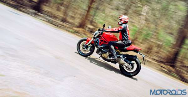 Ducati Monster 821 Review - Action Shots (11)