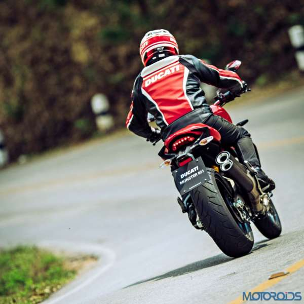 Ducati Monster 821 Review - Action Shots (14)